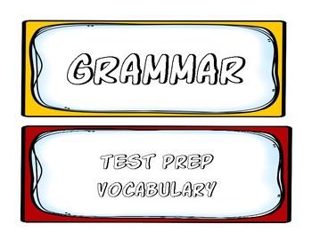 Test Prep Vocabulary Word Wall