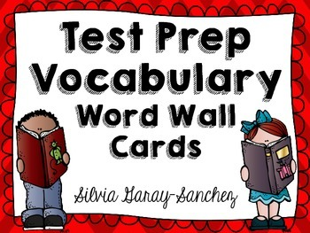 Test Prep Vocabulary Word Wall Cards