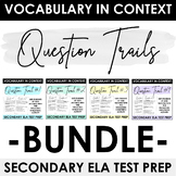 Test Prep: Vocabulary in Context Question Trail BUNDLE - P