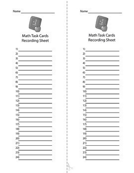 Math Test Prep Task Cards 4th Grade Word Problems