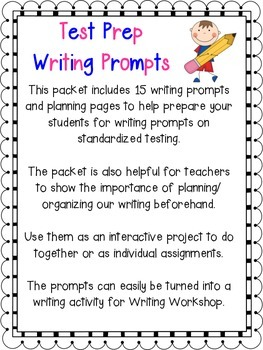 Test Prep Writing Prompts