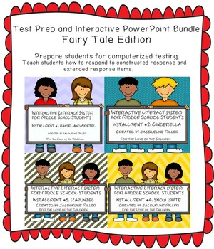 Test Prep and Interactive PowerPoints Bundle: Fairy Tale Edition