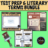 Test Prep and Literary Terms Bundle: Flash Cards and Google Quiz