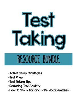 Test Prep and Test Taking Bundle