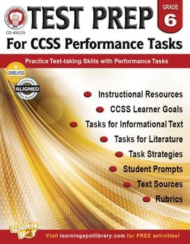 Test Prep for CCSS Performance Tasks Grade 6 SALE 20% OFF! 404229