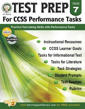 Test Prep for CCSS Performance Tasks Grade 7 SALE 20% OFF! 404230