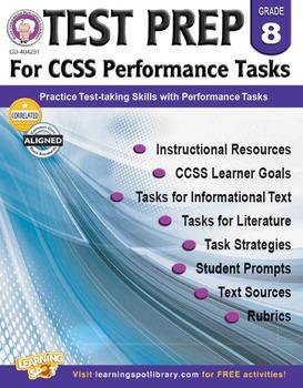 Test Prep for CCSS Performance Tasks Grade 8 SALE 20% OFF! 404231