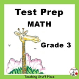 TEST PREP  Grade 3 ... REVIEW MATH   Worksheets   NO PREP