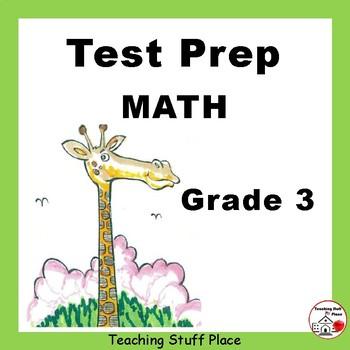 REVIEW MATH | Worksheets | NO PREP | Grade 3 TEST PREP  |
