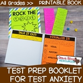 Test Prep for Test Anxiety Booklet | Test Prep Lessons | Test Anxiety Lessons