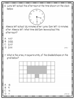 New York State Math Practice Tests for 3rd Grade - No Prep!