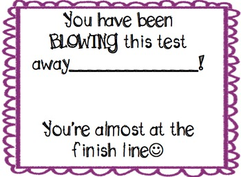 Test Prep incentive cards