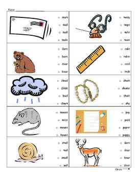 Test Prep to support the format of GATES vocab and STAR Early Literacy