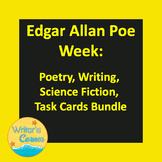 Edgar Allan Poe Week: Poetry, Writing, Science Fiction, Task Cards Bundle