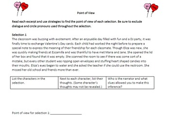 Test Preparation Fiction Passage-Cupid's Confusion (Plot and Point of View)