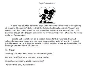 Test Preparation Fiction Passage-Cupid's Confusion (Plot a
