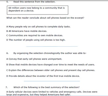 Test Preparation Informational Passage (The Key to Communication)