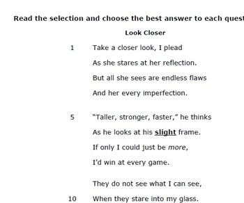 Test Preparation Paired Passage (Theme- Appearance isn't everything)