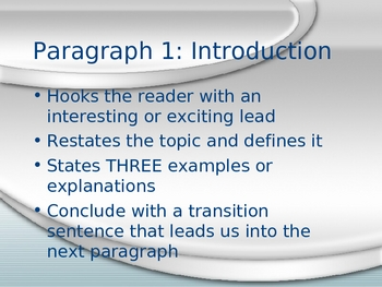 Test Preparation Powerpoint for an Expository Prompt