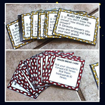 Test Preparation and Test-Taking Skills File Folder Game Counseling Game