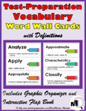 Test Prep Vocabulary Word Wall - Definitions & Printables