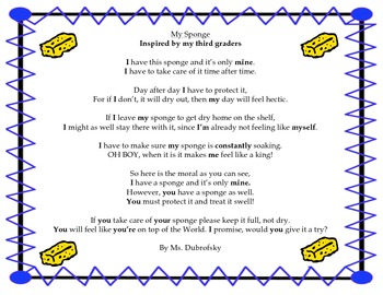 Test Preparations organizational tool! Includes an Original Poem! Grade 3 GATE