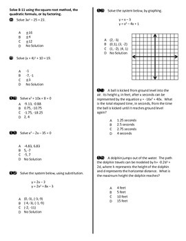 Test (Quadratics)