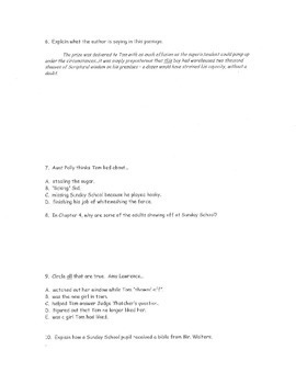 Test & Quiz Bundle: Tom Sawyer by Mark Twain