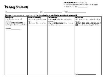 Test & Quiz Corrections