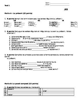 Test & Quizzes - Présent, Passé Composé, Imparfait