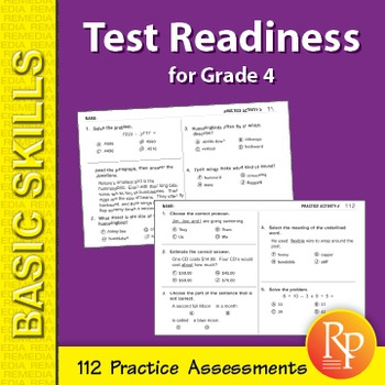 Test Readiness: 112 Assessments for Grade 4