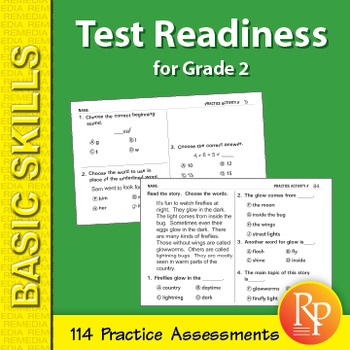 Test Readiness: 114 Assessments for Grade 2