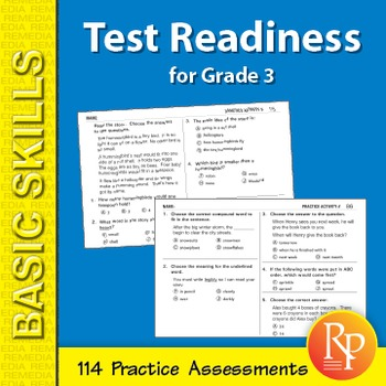 Test Readiness: 114 Assessments for Grade 3
