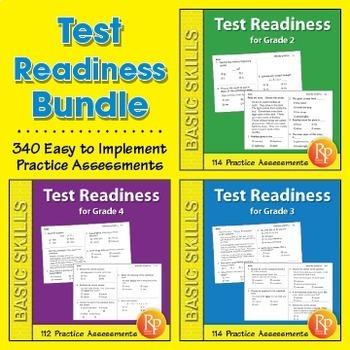 Test Readiness: 340 Assessments for Grades 2-4 {Bundle}