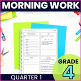 Morning Work: Fourth Grade Set 1 (ELA, Math, Science, and Social Studies)