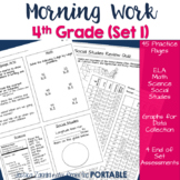 Morning Work: Fourth Grade Set 1 (ELA, Math, Science, and