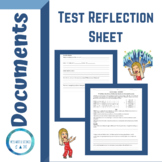 Test Reflection/Analysis Student Sheet