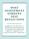Test Reflection-Student Self Evaluation-Half Sheet
