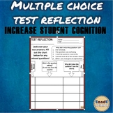 Test Reflection for Multiple Choice Test (WORKS WITH ANY SUBJECT)