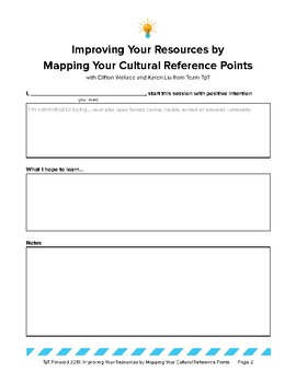 Test Resource: Mapping Your Cultural Reference Points