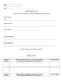 Test Retake/ Corrections  Form