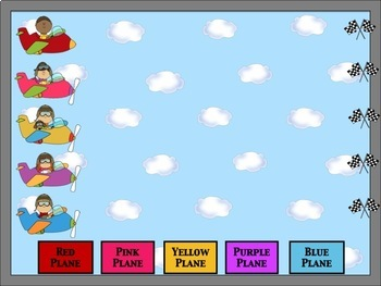PowerPoint Interactive Test Prep Game:  Plane Race