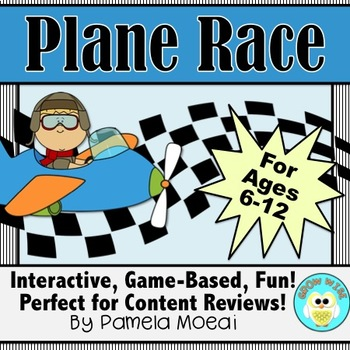 Test Prep/Review Game - Any Subject: Plane Race (Interactive PowerPoint)
