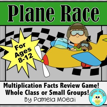 Multiplication Facts Test Prep Game: Plane Race