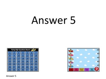 Test/Review Prep Game: Plane Race with Question/Answer Template