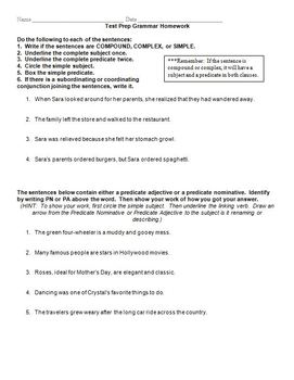 Test Review Games For Grammar and Writing (4th grade, 5th grade, 6th grade)