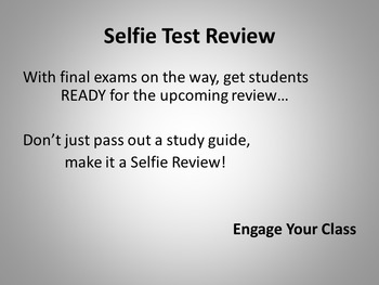 Test Review Idea for Secondary Students