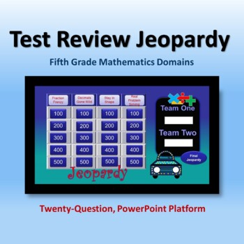 Test Review Jeopardy for 5th Grade Math Domains
