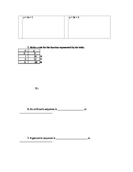 Test Review Worksheet and Study Guide