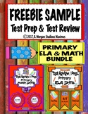 Test Review and Prep Bundle - Primary Math and ELA Skills - FREEBIE SAMPLE
